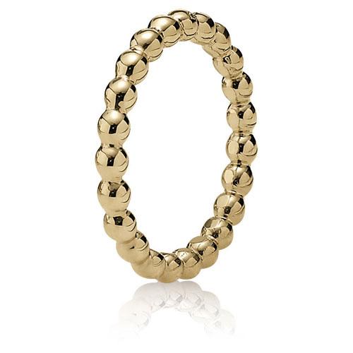 Retired Pandora 14k Gold Bubble Ring Ring Stories