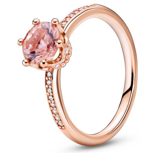Pandora Rose ™ Pink Sparkling Crown Solitaire Ring