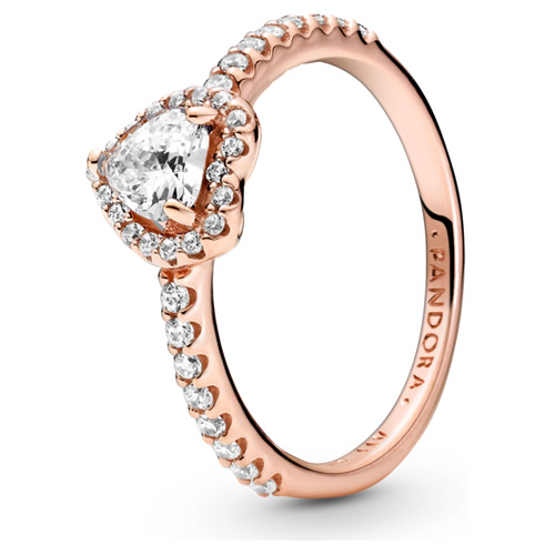 Pandora Rose ™ Sparkling Elevated Heart Ring