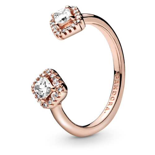 Pandora Rose Square Sparkle Ring