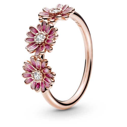 Pandora Rose ™ Pink Daisy Flower Trio Ring