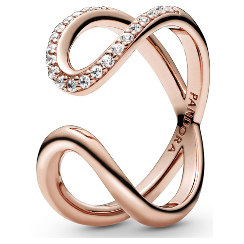 Pandora Rose ™ Wrapped Open Infinity Ring