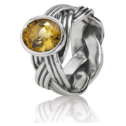 Retired pandora tied together bear quartz ring ring for Pandora jewelry amarillo tx