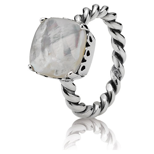 Pandora Jewelry Denmark: Retired PANDORA Mother Of Pearl Sincerity Ring :: Ring