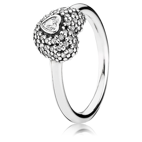Pandora Jewelry St Louis: Retired PANDORA In My Heart Ring :: Ring Stories 190877CZ