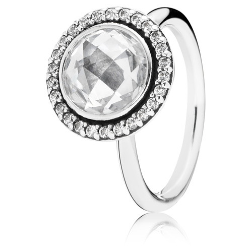 Pandora Jewelry St Louis: Retired PANDORA Brilliant Legacy Ring With Clear Zirconia
