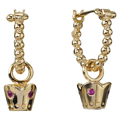 Pandora Jewelry Denmark: Retired PANDORA 14K Gold Crown Earrings :: Earring Stories