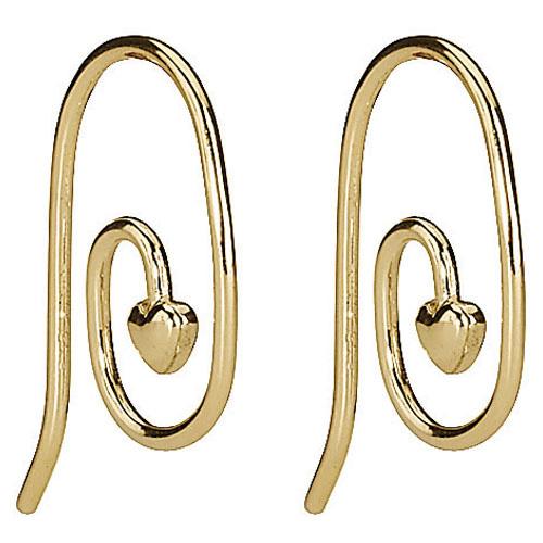 Pandora Compose Earrings: Retired PANDORA 14K Gold Smooth Heart Earring Posts