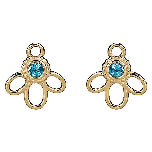 Pandora Compose Earrings: Retired PANDORA 14K Gold Topaz Earring Charm :: Compose