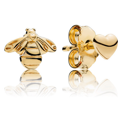 Pandora Shine ™ Heart and Bee Earrings