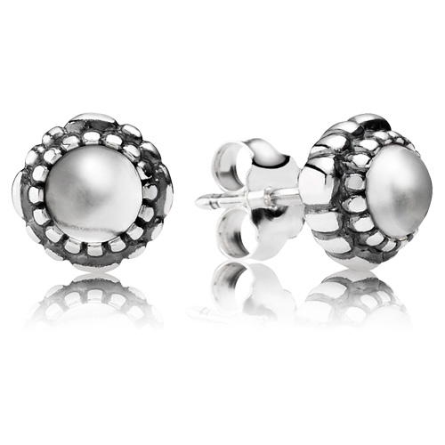 Pandora Jewelry St Louis: Retired PANDORA Crystal Bloom Earring Studs :: Earring