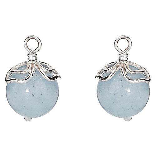 Pandora Compose Earrings: Retired PANDORA Aquamarine Trinity Earring Charm