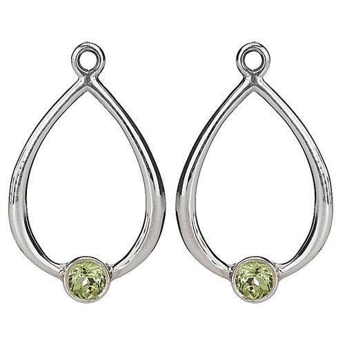 Pandora Compose Earrings: Retired PANDORA Peridot Drop Earring Charm :: Compose