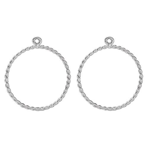 Pandora Compose Earrings: Retired PANDORA Twisted Round Hoop Earring Charm
