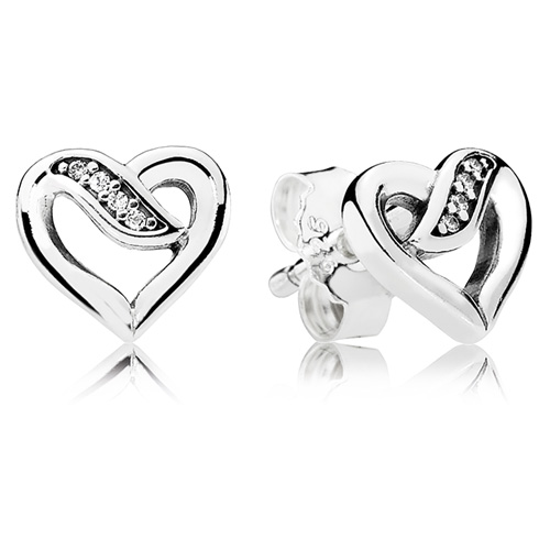 Ribbons Of Love Stud Earring Click Here To Enlarge Image