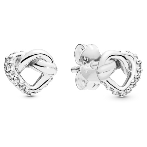 Knotted Hearts Stud Earrings