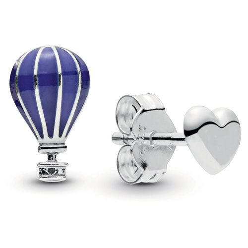 Hot Air Balloon and Heart Stud Earrings