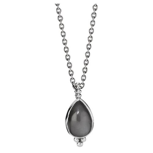 Pandora Moonstone Earrings: Retired PANDORA Grey Moonstone Teardrop Pendant Necklace