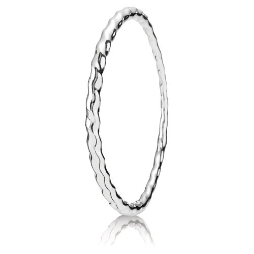 Pandora Jewelry St Louis: Retired PANDORA Small Vibrations Bangle :: Liquid Silver