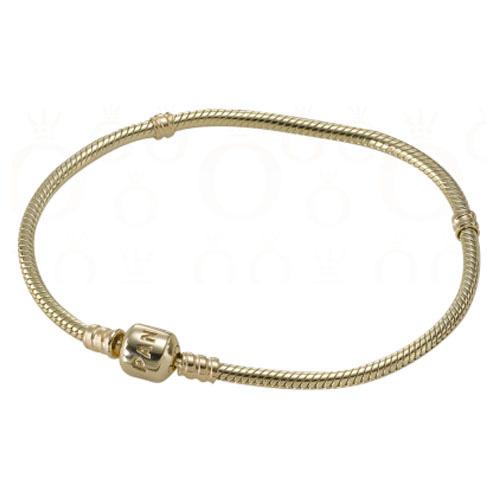 Pandora Jewelry Online Retailers: Pandora 14K Gold Bracelet With Snap Clasp :: Pandora