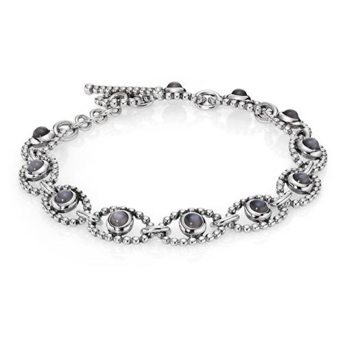 Pandora Moonstone Earrings: Retired PANDORA Grey Moonstone Cabochon Links Bracelet