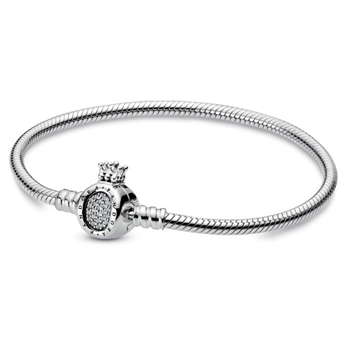 Pandora Jewelry Online Retailers: Pandora Sterling Silver Bracelet With O Crown Clasp