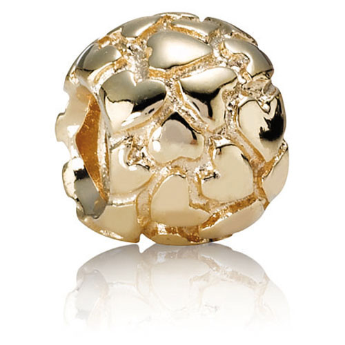 Pandora Jewelry Online Retailers: Retired Pandora 14K Gold Lotsa Love Charm :: 14K Gold