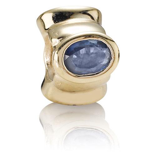 Retired Pandora 14k Gold Big Sapphires Charm 14k Gold