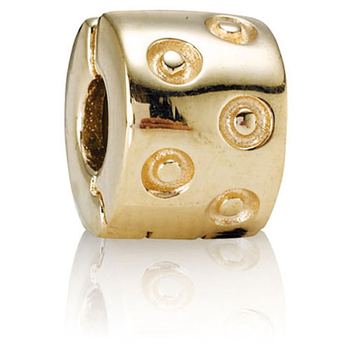 Pandora Jewelry St Louis: Retired PANDORA 14K Gold Seeing Spots Clip :: Clips 750345