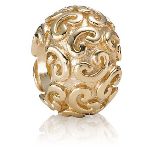 Pandora Jewelry Denmark: Retired PANDORA 14K Gold Feeling Groovy Charm :: 14K Gold