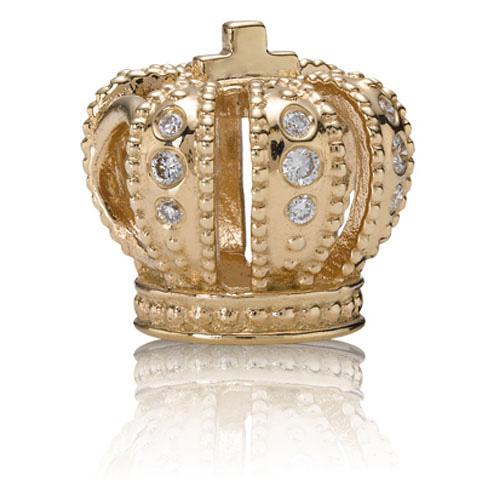 14K Crown Charm