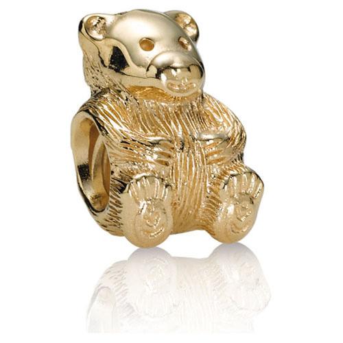 Retired Pandora 14k Gold Teddy Bear Charm 14k Gold