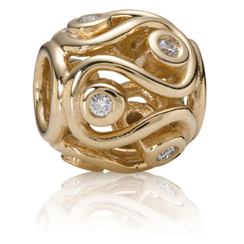 Pandora Jewelry Online Retailers: Retired PANDORA 14K Gold Destiny Charm :: 14K Gold Charms
