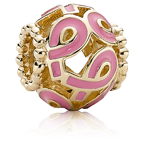 Pandora Jewelry Online Retailers: Retired PANDORA 14K Gold Limited Edition Pink Ribbon Charm