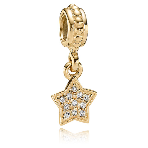 Pandora Jewelry St Louis: Retired PANDORA 14K Brilliant Star Dangle :: 14K Gold