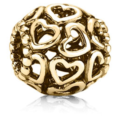 Pandora Jewelry St Louis: Retired PANDORA 14K Open Your Heart Charm :: 14K Gold
