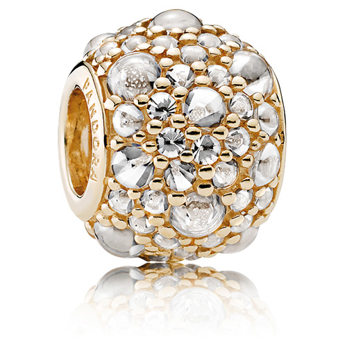 Pandora Jewelry Online Retailers: PANDORA 14K Gold Shimmering Droplets Charm :: 14K Gold