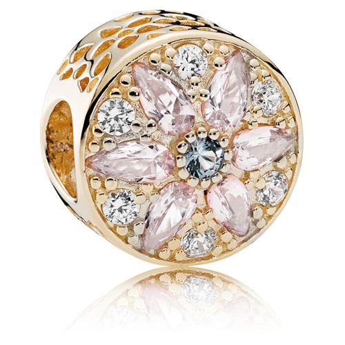 Pandora Jewelry Llc: PANDORA 14K Gold Opulent Floral Charm :: 14K Gold Charms