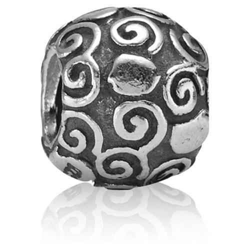 Pandora Jewelry Online Retailers: Retired PANDORA Swirl Heart Charm :: Sterling Silver