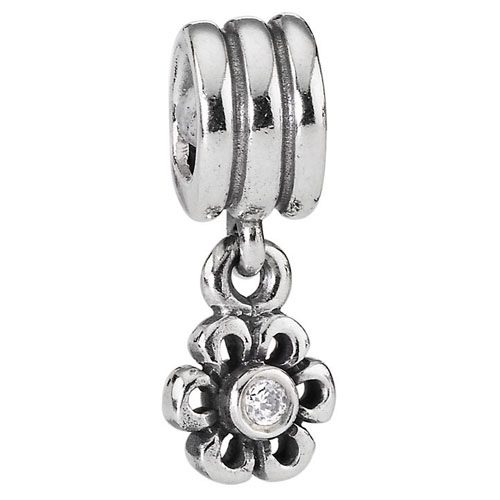 Pandora Jewelry St Louis: Retired PANDORA Daisy With Clear Zirconia Charm :: Gems