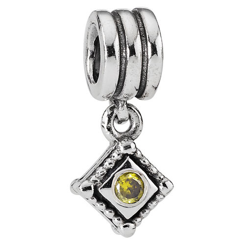 Pandora Jewelry St Louis: Retired PANDORA Hanging Diamond Shape GCZ Charm :: Gems