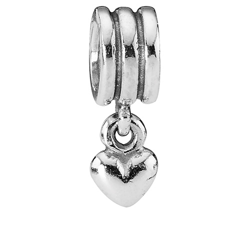 Pandora Jewelry St Louis: Retired PANDORA Silver Heart Dangle Charm :: Sterling