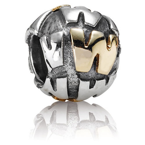Pandora Jewelry Online Retailers: Retired Pandora Alphabet Letter 14K Gold