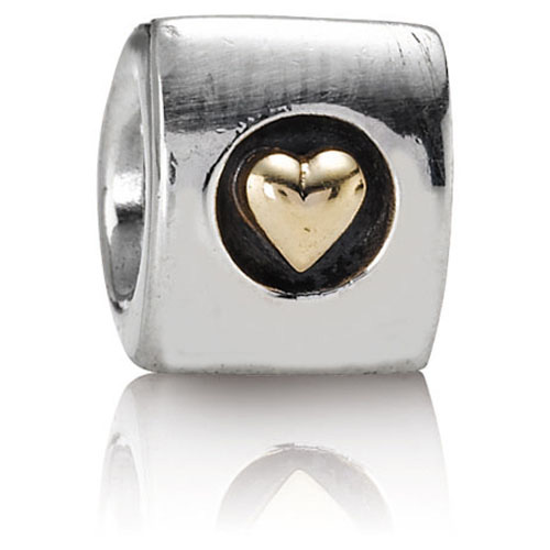 Retired Pandora Heart Of Gold Charm 14k Gold Amp Sterling