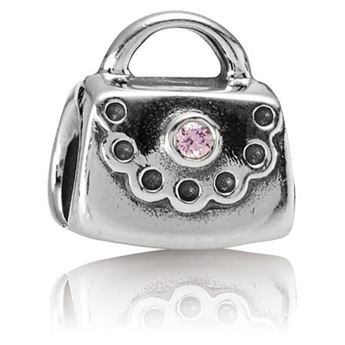6cfc6f860 Retired Pandora Purse with Pink CZ Charm :: Gems with Sterling ...