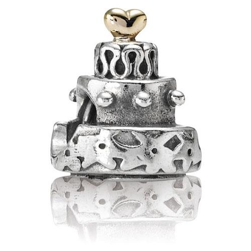 Groovy Retired Pandora Celebration Cake With 14K Gold Charm 14K Gold Birthday Cards Printable Opercafe Filternl