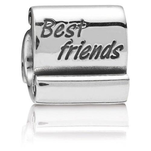 Pandora Jewelry Online Retailers: Retired PANDORA Best Friends Scroll Charm :: Sterling
