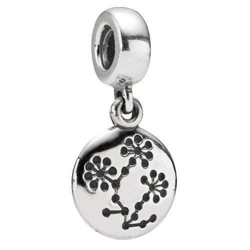 Retired Pandora Breast Cancer Awareness Flower Dangle