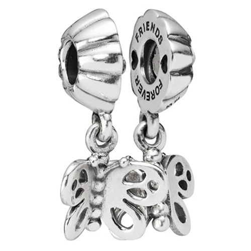 Retired Pandora Friends Forever Butterfly Dangle Charm