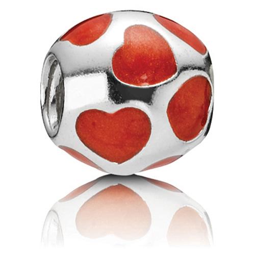 Pandora Jewelry Llc: Retired PANDORA Love You Red Enamel Charm :: Enamel Charms